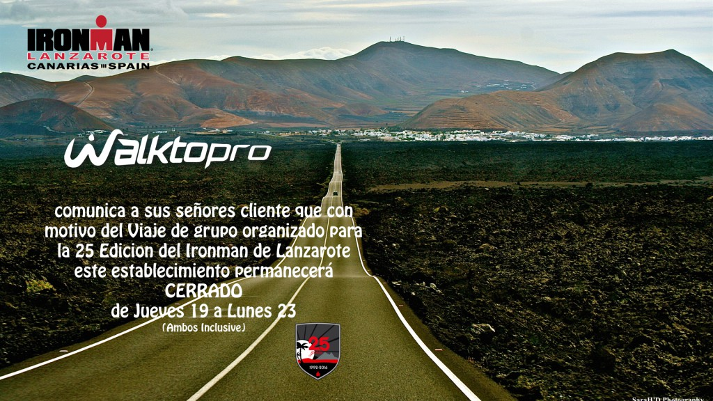 CERRADO por Viaje Ironman Lanzarote