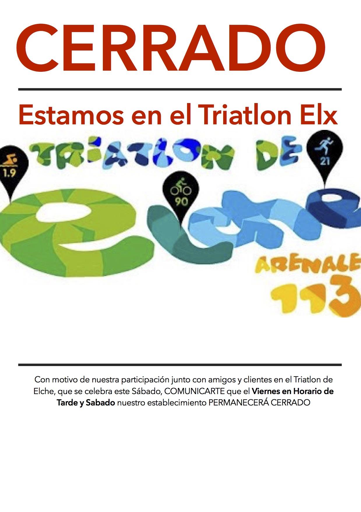 Triatlon Elche Arenales, el primero de la Temporada